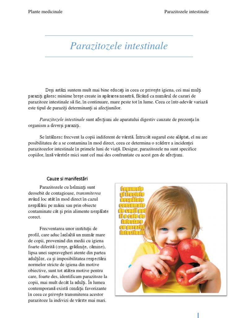 parazitozele frecvente la copii enterobius vermicularis behandeling