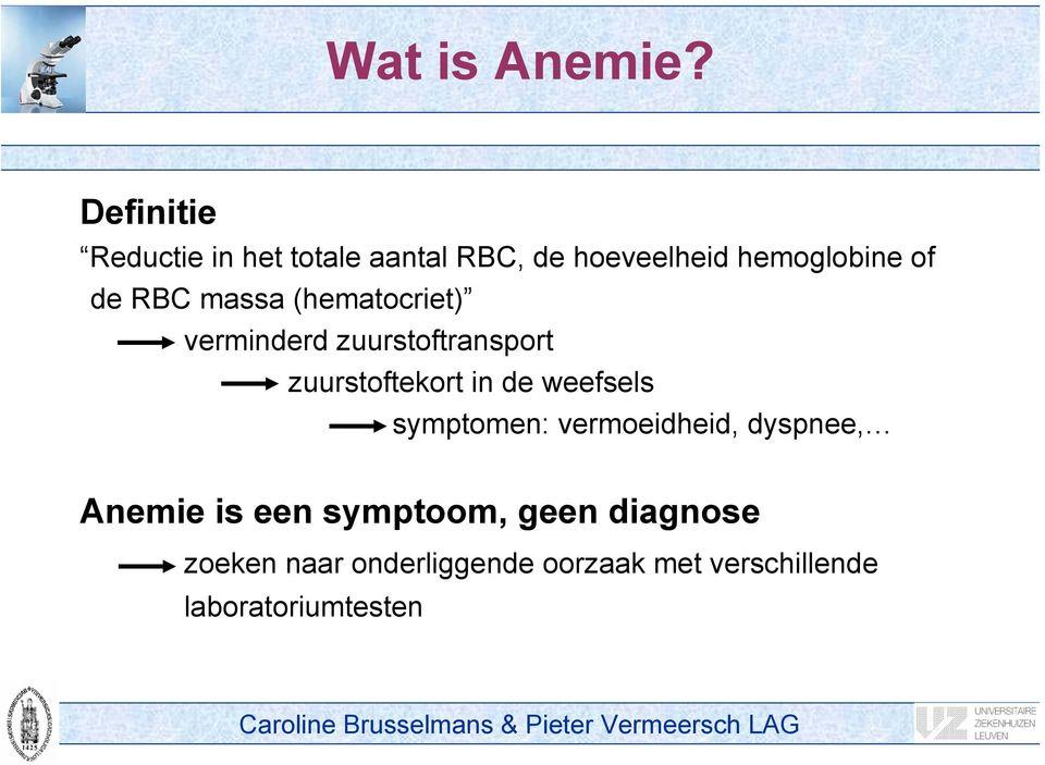 anemie definitie