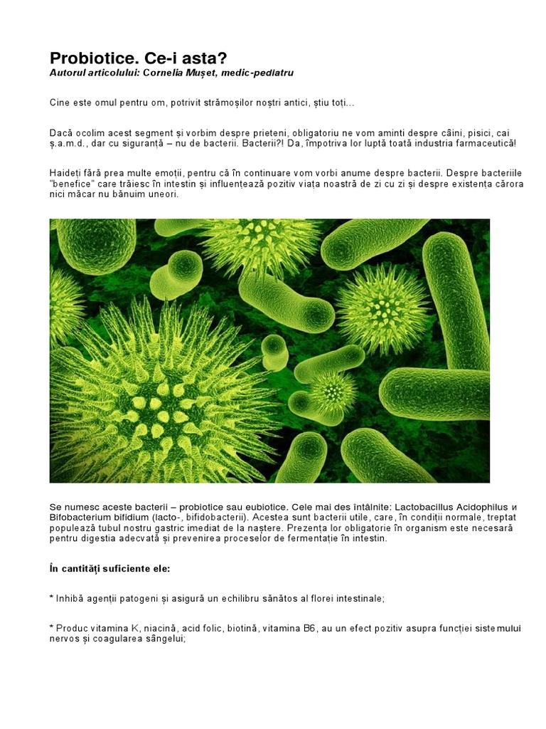 bacterii benefice