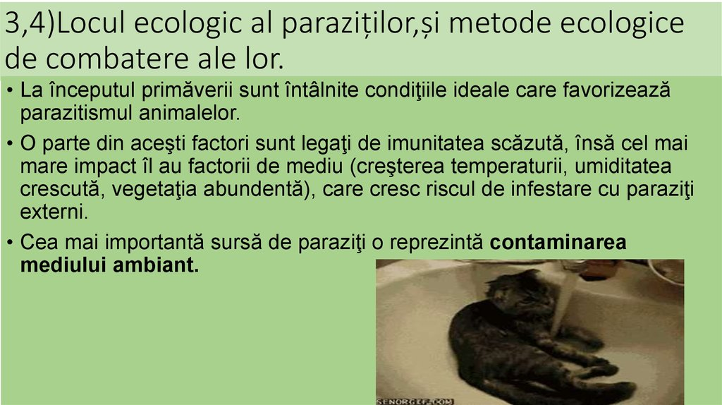 controlul paraziților la om