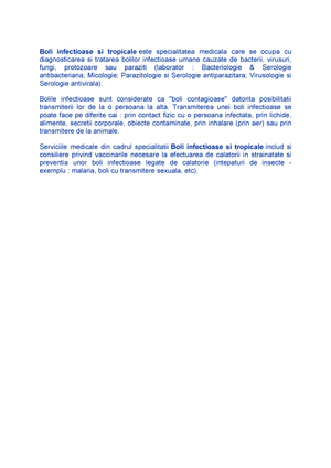 Investigatii de laborator recomandate in tulburari gastrointestinale