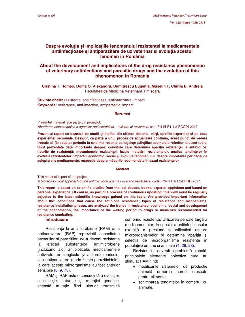 prezentare generală a medicamentelor profilactice parazite