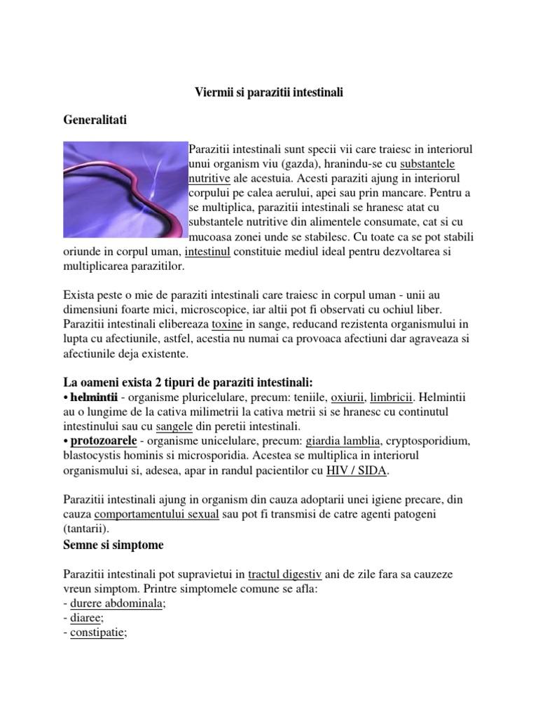 boala enterobiozei