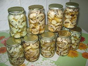 conservare a ciupercilor