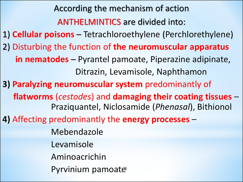 anthelmintic agents ppt