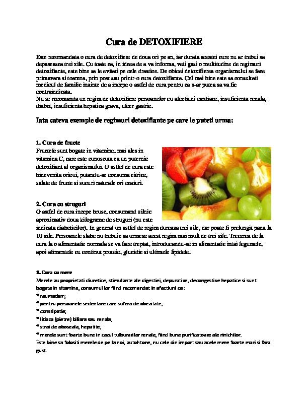 detoxifiere prin alimentatie