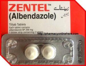 Zentel. ZENTEL® TABLETS 200 mg (tablets); ZENTEL® SUSPENSION 20 mg/mL (suspension)